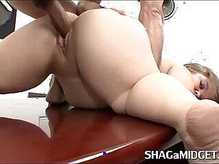 Midget Babe Fucked on Office Desk