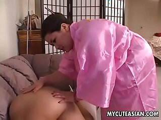 Two sultry sluts sucking and blowing a fat dick with desire