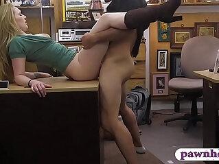 Hot blonde railed by pervert pawn man