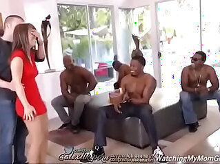 Sexy hot milf gets BBC gangbang and DP