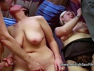 Four amateur British swingers