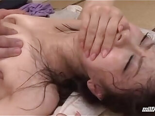 Milf Getting Her Hairy Pussy licked and Fucked very Hard Cum To Mouth While Her Son Sleeping Nex
