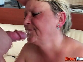 granny gets it in her face
