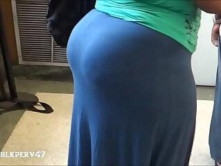 Big Ebony BBW Candid Booty