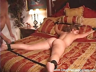 Painfully assfucked by huge cock