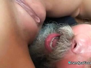 Teen gets anal banged by grandpa