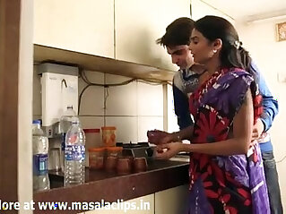 Housewife Illegal Relationship with Hubby Boss at Home