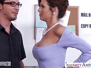stockings - Stockinged veronica avluv fuck in the office