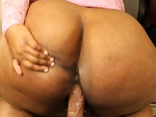 bog booty freak plays with toy