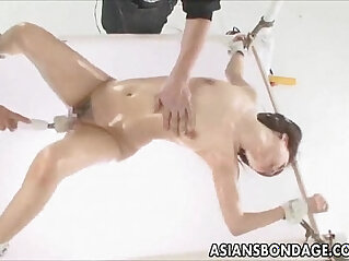 Japanese babe fucked in various dildos