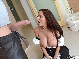 Sexy MILF in Maid Outfit