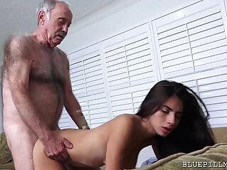 Latina Teen slut Fucks Old Man Frankie