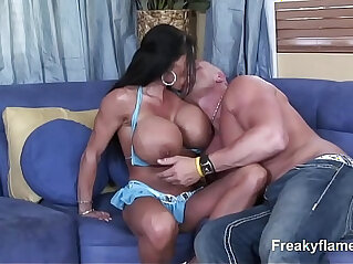 Lustfull Big Tits MILF stepmom likes to swallow enormous dick till c