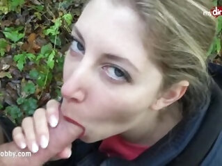 My Dirty Hobby Quick blowjob in the forest