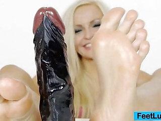 Beautiful blonde Angel sexy feet