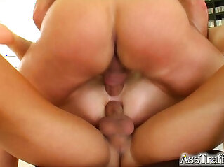 Ass Traffic Skinny chick gets anal treatment