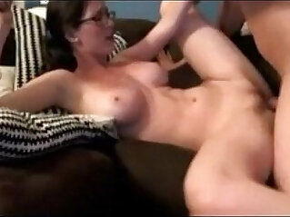 gorgeous amateur nerdy on homemade quickie