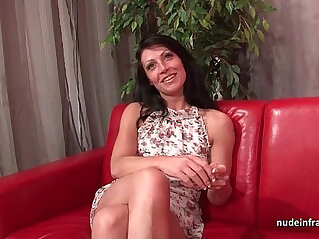 Sublime busty french milf deep hard anal fucked and cum to mouth for her casting
