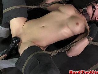 BDSM sub Casey Calvert clit stimulated