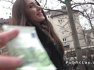 Russian babe flashing panties in public
