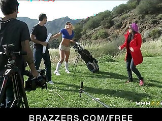 Slutty blond with perfect body Leya Flacon oils up fucks with her boss