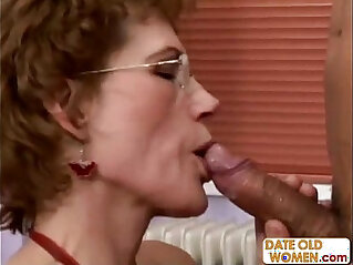 Fine Older Woman and Younger Student