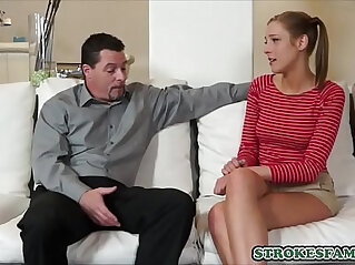 Stepdad fuck her stepdaughter really hard as sex education