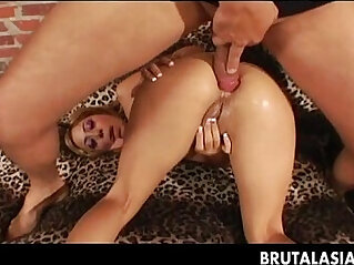 Seductive blonde getting her ass fucked deep