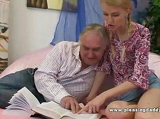 Young Slut sucks and Fucks Her Old Tutor