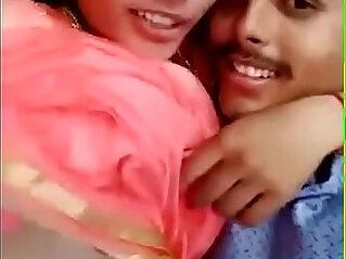 desi indian girl and his boyfriend suck boob