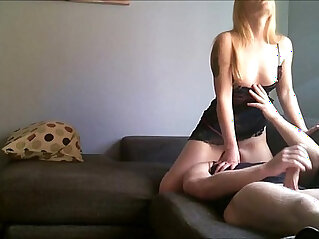 Blonde teen babe sitting on his face POV