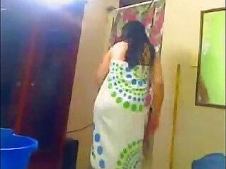 Indian Aunty mood in bathroom