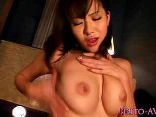 Busty beauty receives a messy facial