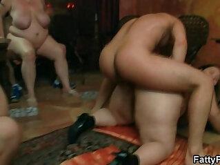 Brunette gets boned in various positions