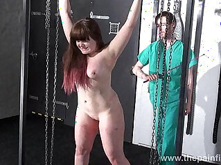 Teen bdsm of chubby amateur slave Louise in hardcore spanking and merciless dung
