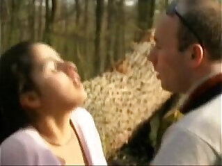 FRENCH CASTING petite brunette teen in a forest.More