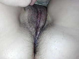 play on camera with my sleeping wifes hairy pussy