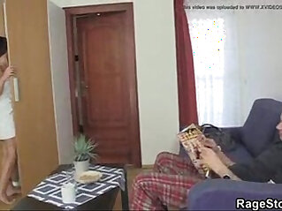 house wife forced to fuck by neighbour and friend