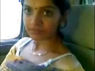 Cute Desi Bhabhi Show Milky Boobs In Car With black Lover