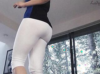 White pants ass worship leg tease lady fyre